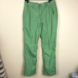 Mountain Khakis Slim Fit green pant size 33x34